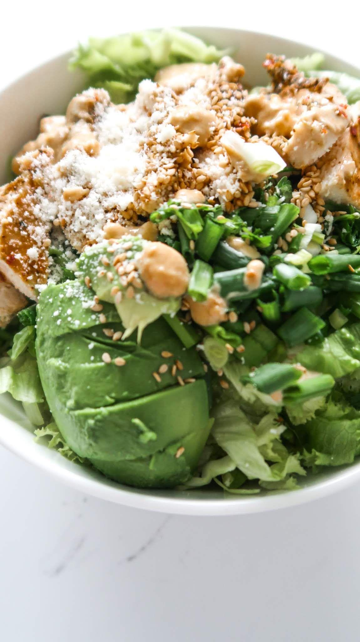 Clean Keto Salads  Healthy Avocado Chicken Salad Low Carb & Gluten Free