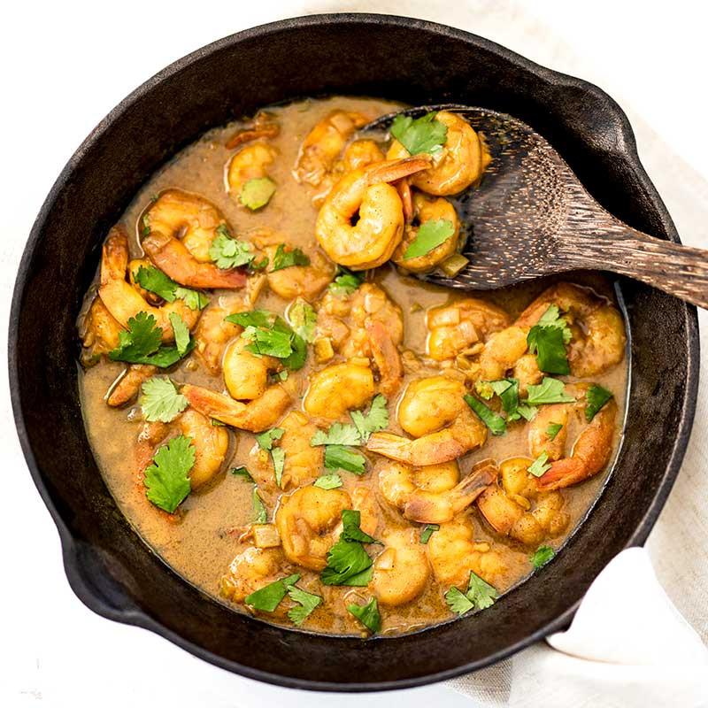"""Coconut Curry Shrimp Keto  Keto Creamy Shrimp Curry Recipe Easy """"Dairy Free"""