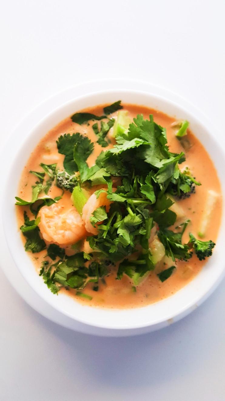 Coconut Curry Shrimp Keto  Easy Coconut Curry Shrimp Soup Low Carb & Keto Her