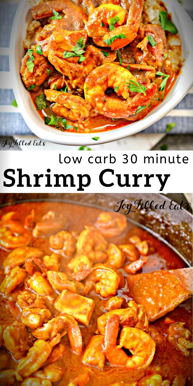 Coconut Curry Shrimp Keto  Shrimp