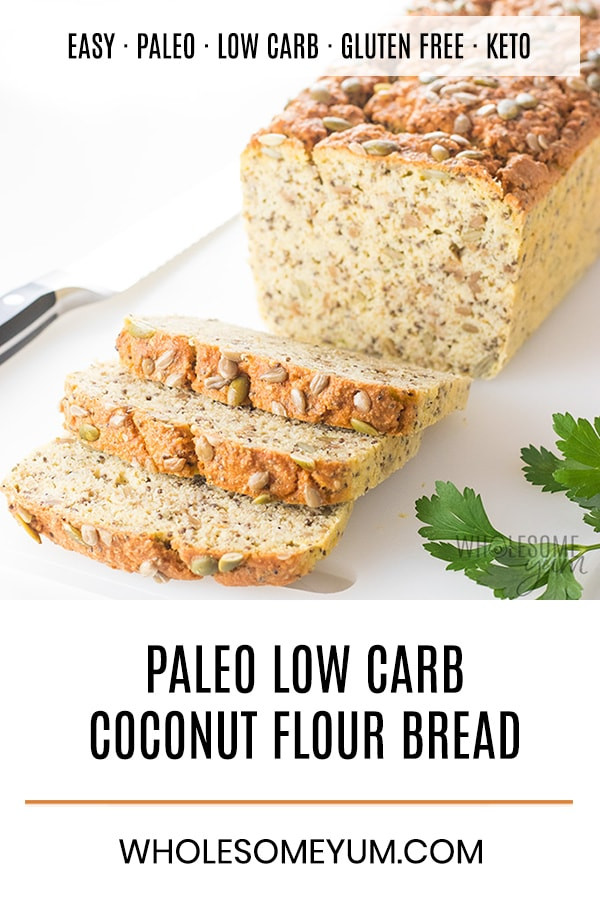 Coconut Flour Keto Recipes  Keto Low Carb Coconut Flour Bread Recipe