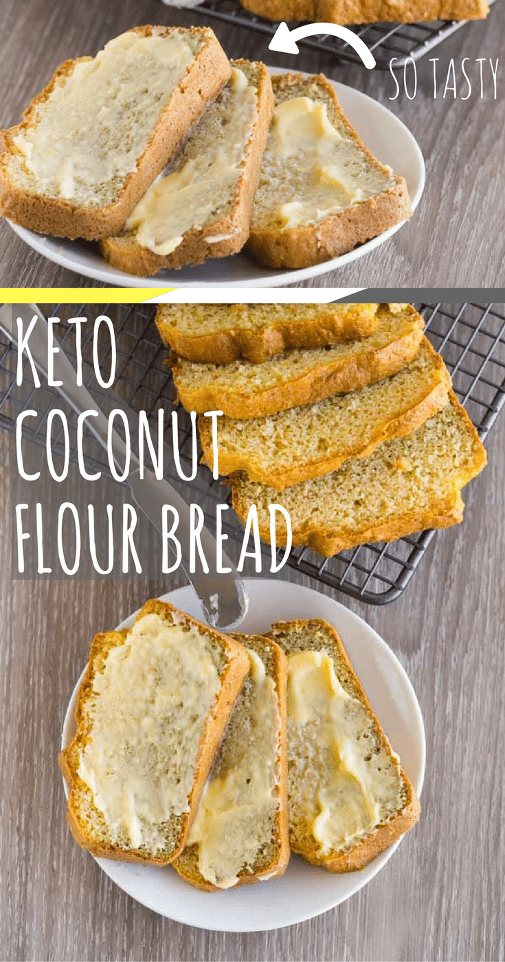 Coconut Flour Keto Recipes  Keto Coconut Bread Nut Free Gluten Free and Low Carb Recipe