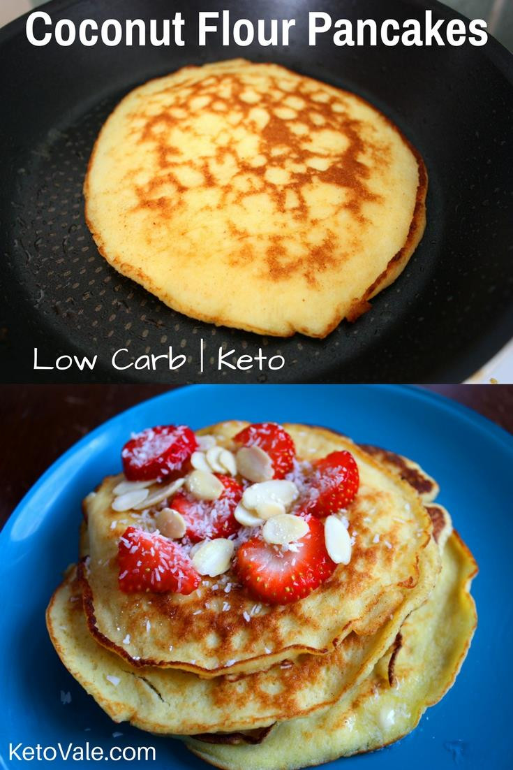 Coconut Flour Keto Recipes  Keto Coconut Flour Pancakes Low Carb Recipe