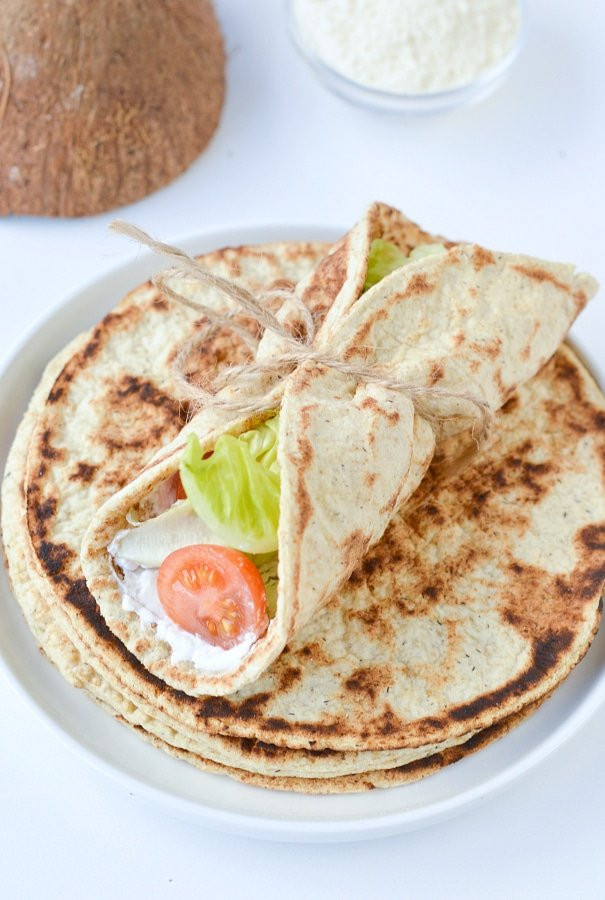 Coconut Flour Keto Recipes  Coconut flour flatbread