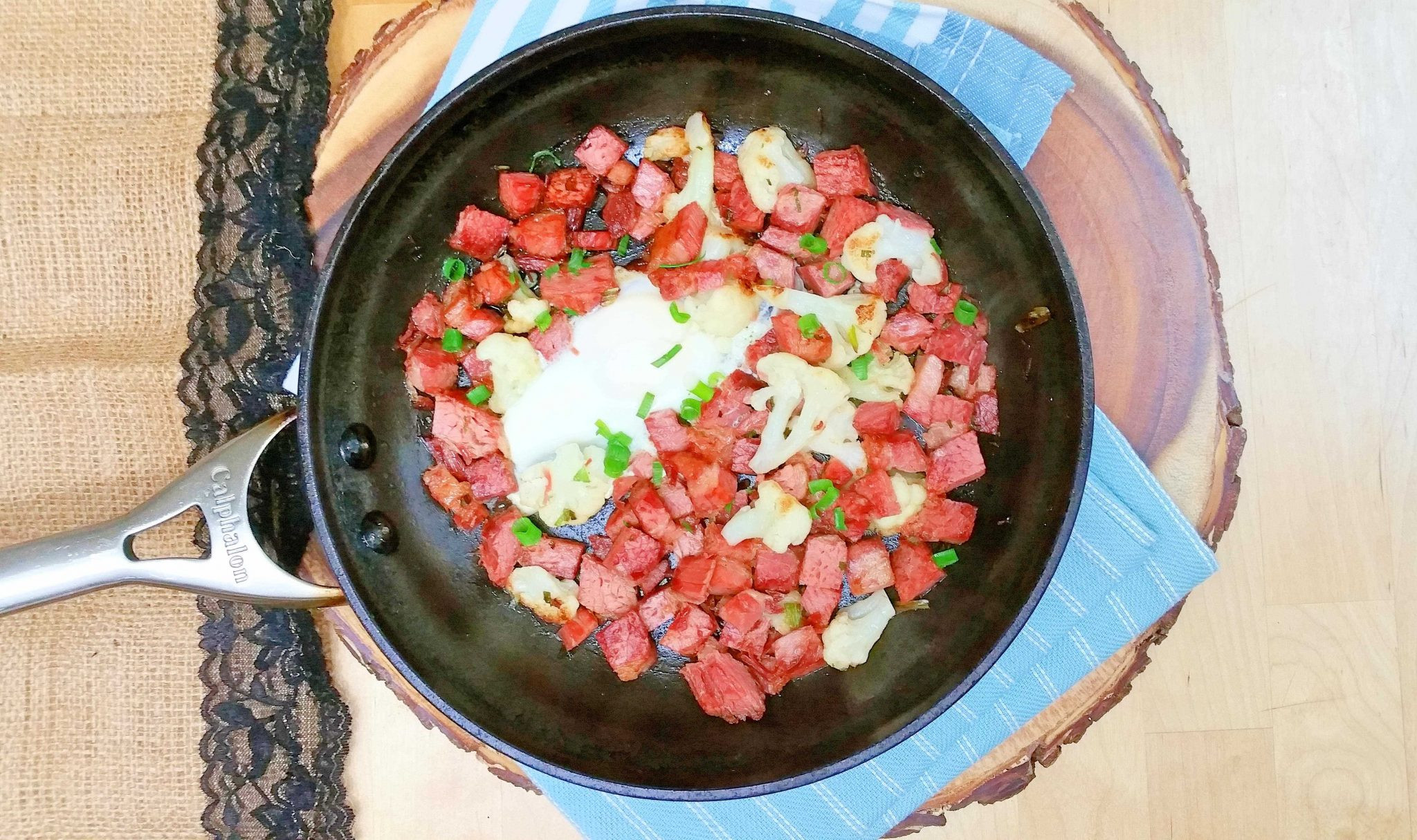 Corn Beef Keto  Keto Corned Beef Hash with Cauliflower is Low Carb and
