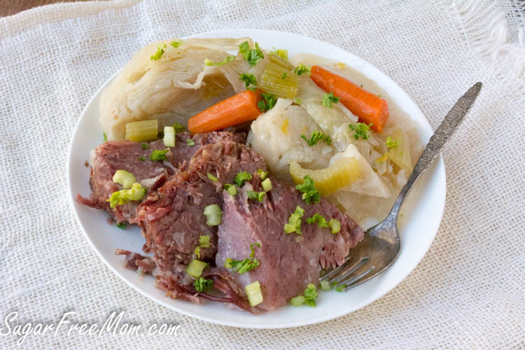 Corned Beef Recipes Slow Cooker Keto  Keto Corned Beef and Cabbage Instant Pot or Slow Cooker
