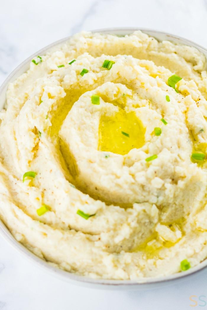 Creamed Cauliflower Keto  Keto Mashed Cauliflower Recipe