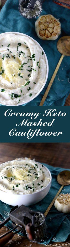 Creamed Cauliflower Keto  Creamy Keto Mashed Cauliflower My PCOS Kitchen