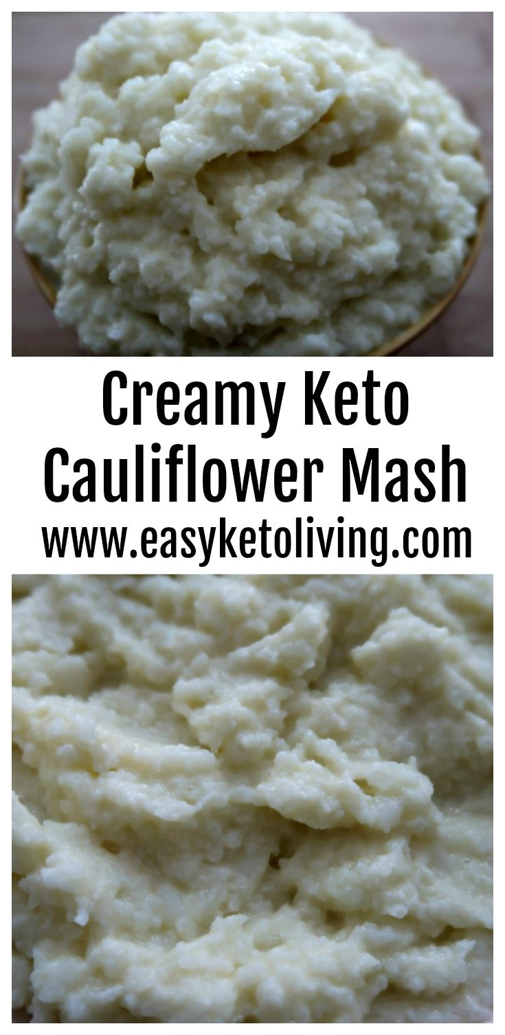 Creamed Cauliflower Keto  Creamy Cauliflower Mash Easy Keto Mashed Cauliflower Recipe