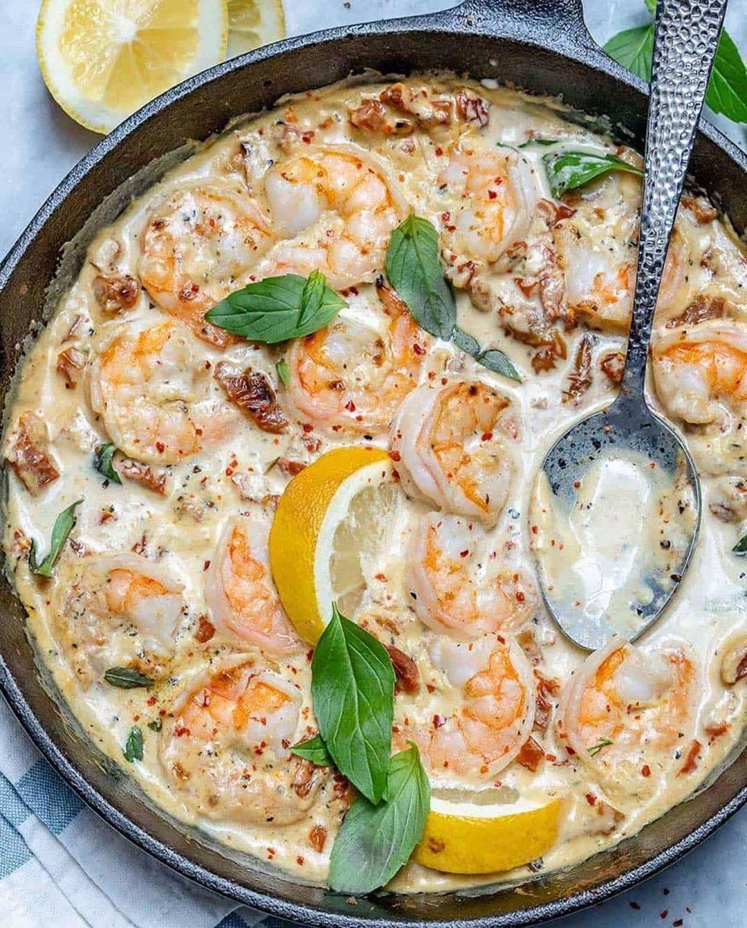 Creamy Garlic Tuscan Shrimp Keto  Creamy Garlic Tuscan Shrimp Skillet