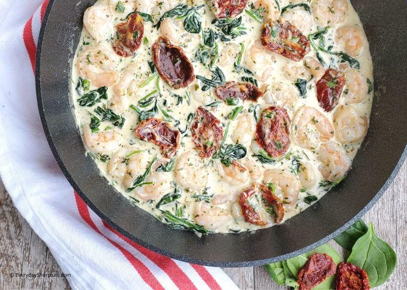 Creamy Garlic Tuscan Shrimp Keto  Keto Creamy Garlic Tuscan Shrimp Everyday Shortcuts