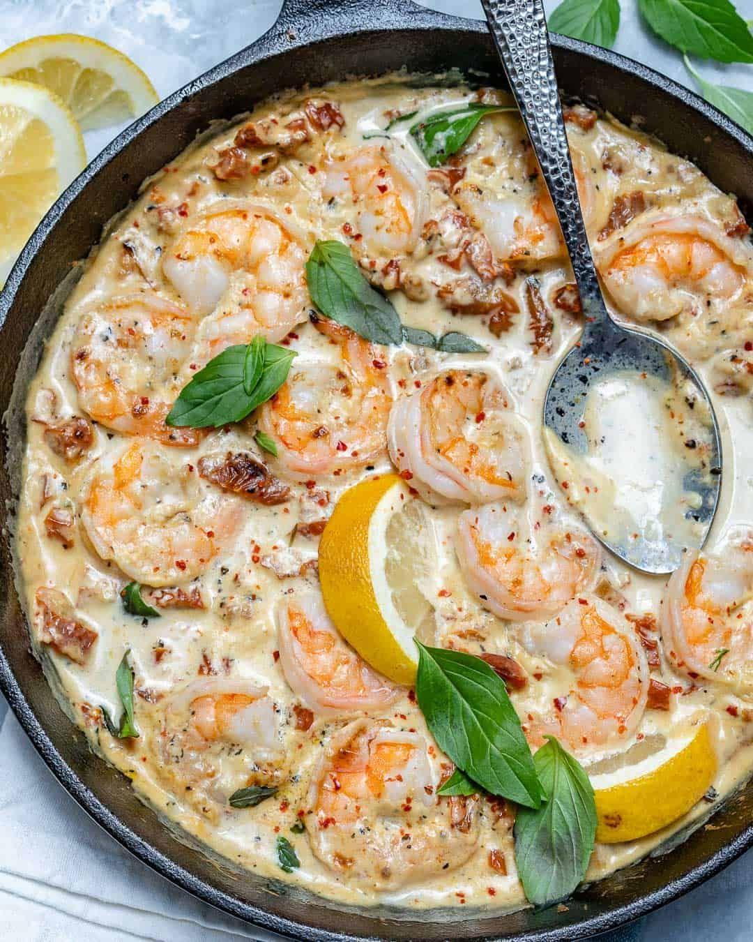 Creamy Garlic Tuscan Shrimp Keto  Creamy Garlic Tuscan Shrimp Recipe