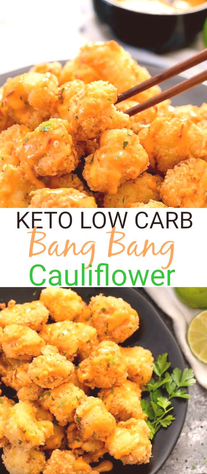 Crispy Cauliflower Keto  Keto Low Carb Bang Bang Cauliflower Crispy cauliflower