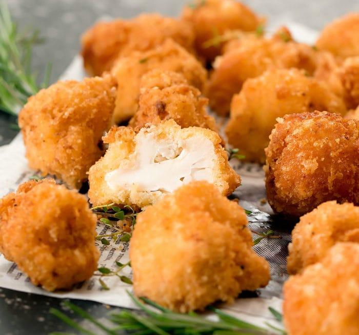 Crispy Cauliflower Keto  Crispy Low Carb Keto Cauliflower Bites Kirbie s Cravings