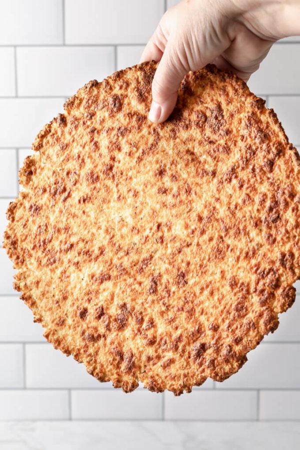 Crispy Cauliflower Keto  Crispy Cauliflower Pizza Crust Keto