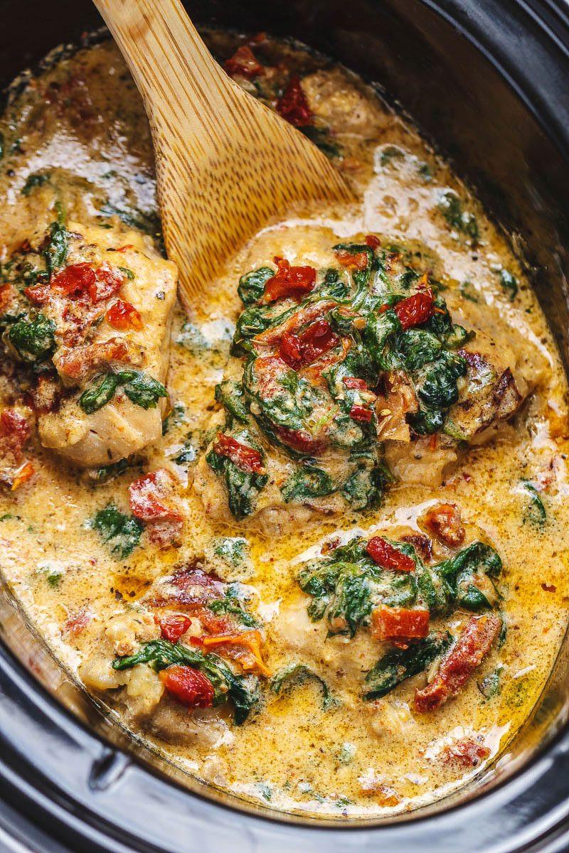 Crock Pot Chicken Keto  CrockPot Tuscan Garlic Chicken Recipe – How To Make