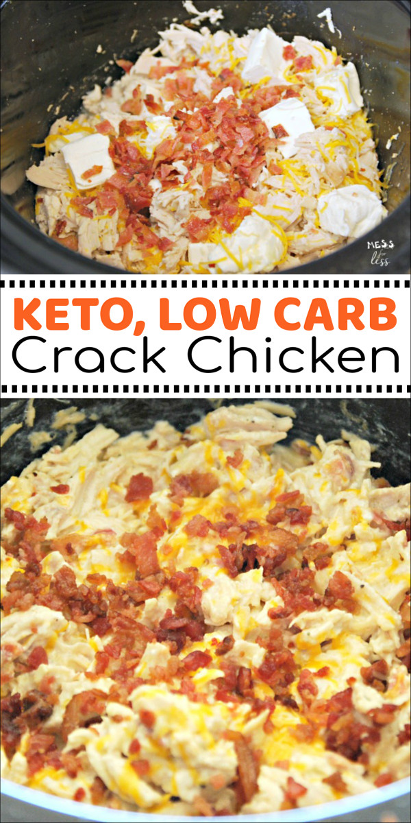 Crock Pot Keto Dinner Recipes  Keto Crack Chicken in the Crock Pot Mess for Less