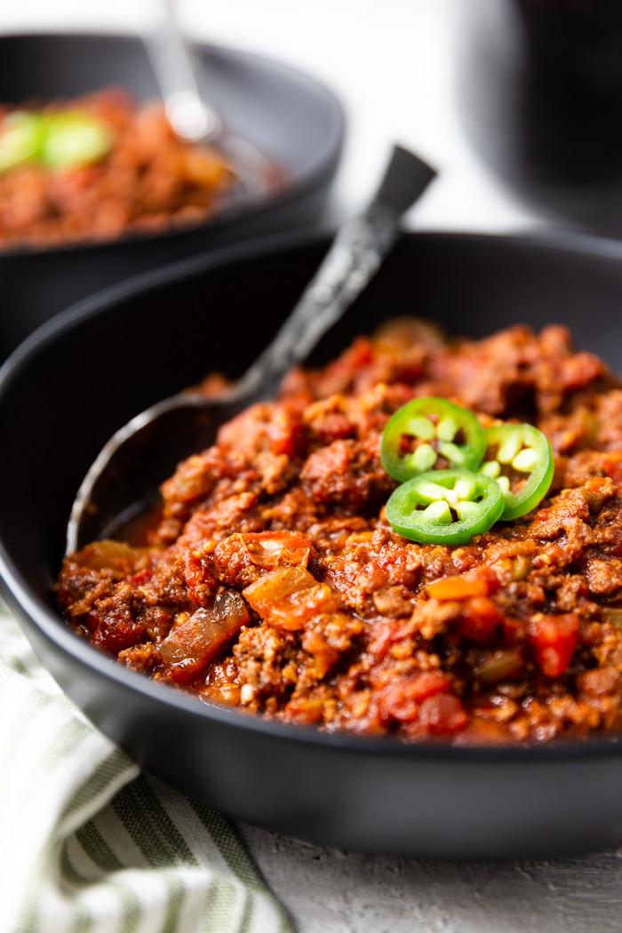 Crock Pot Keto Dinner Recipes  Keto Chili Crock Pot Easy Peasy Meals