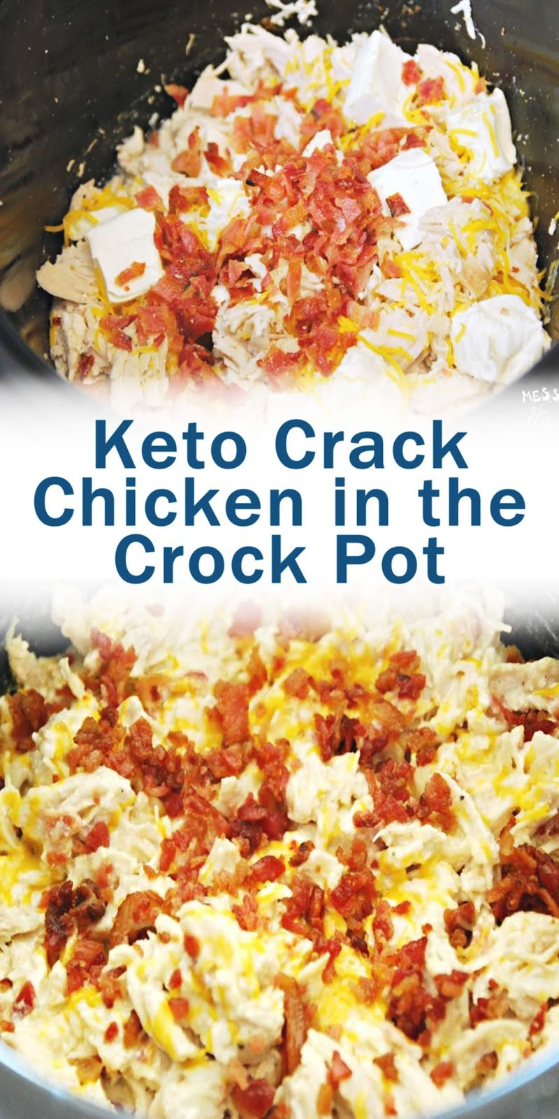 Crockpot Crack Chicken Keto  Keto Crack Chicken in the Crock Pot