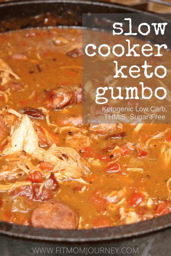 Crockpot Keto Gumbo  Keto Gumbo Slow Cooker THM S Low Carb Paleo Ketogenic
