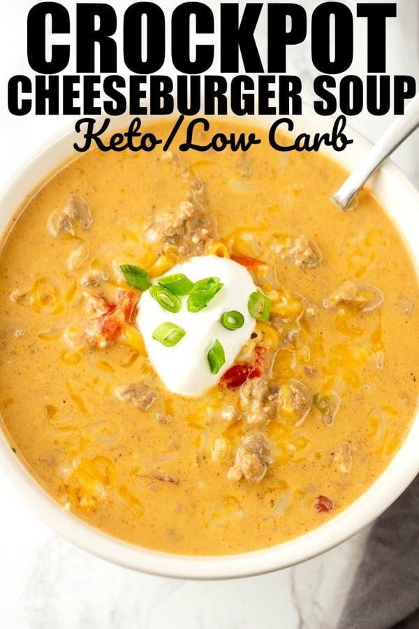 Crockpot Keto Soup Recipes  Low Carb Crockpot Cheeseburger Soup • Mid Momma