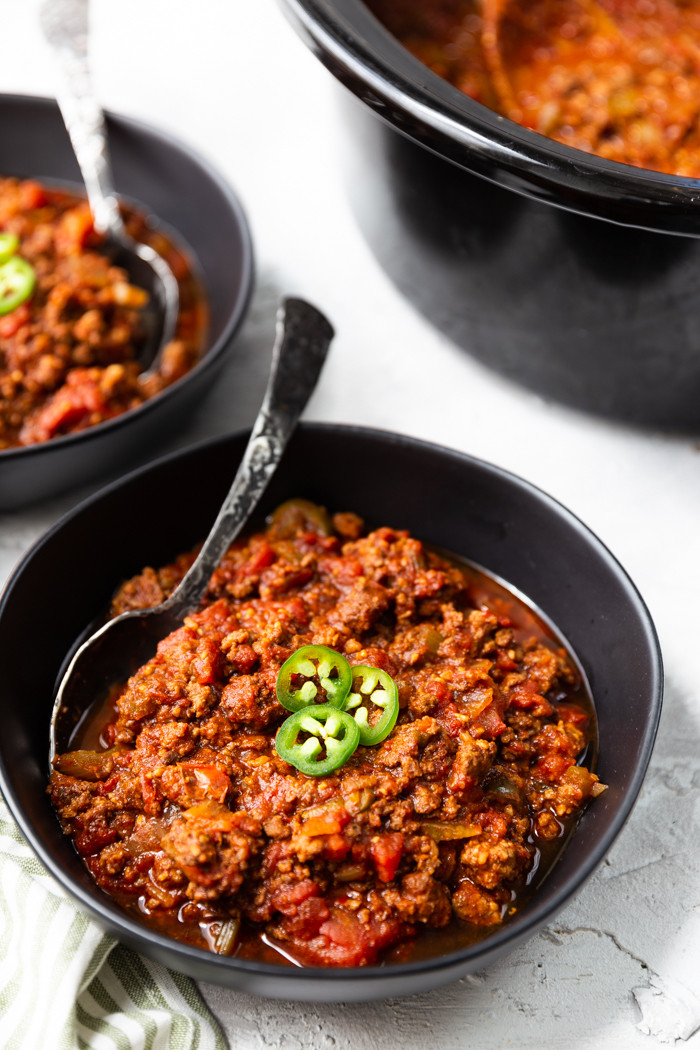 Easy Crock Pot Keto  Keto Chili Crock Pot Easy Peasy Meals