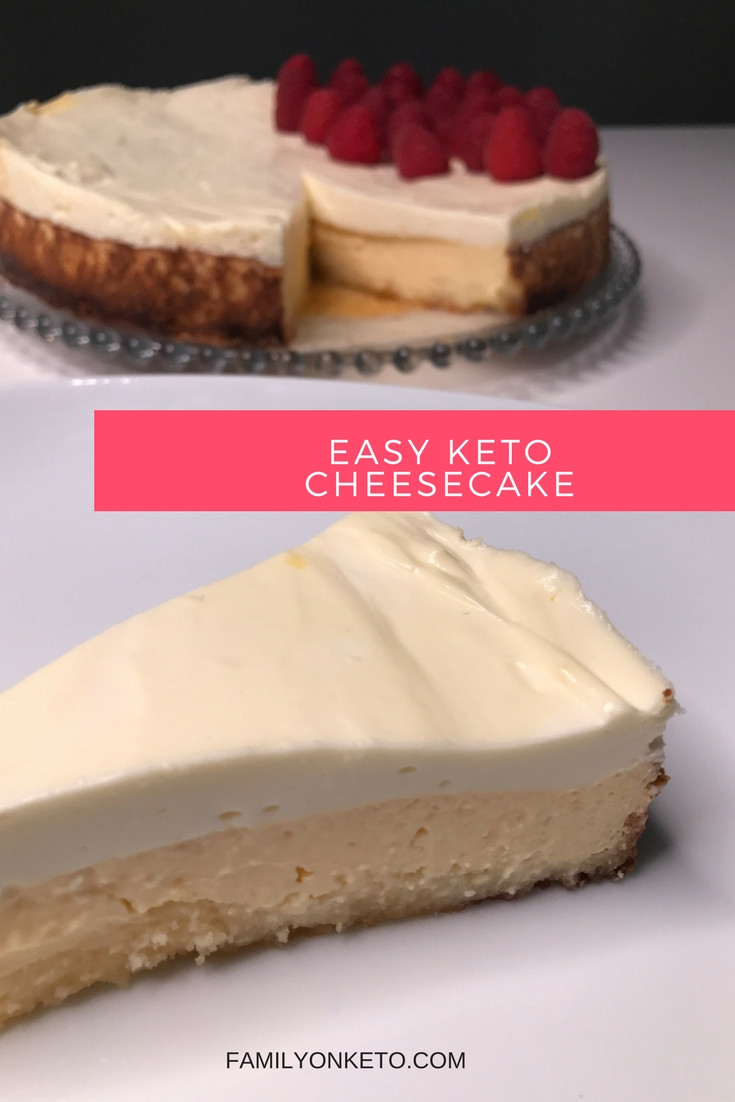 Easy Keto Cheesecake  EASY KETO CHEESECAKE Family Keto