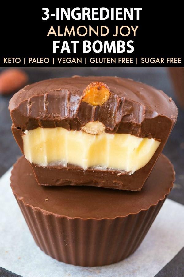 Easy Keto Fat Boms  3 Ingre nt Almond Joy Fat Bombs Keto Low Carb Paleo