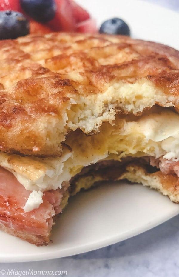 Easy Keto Sandwich Bread  Easy Keto Chaffle Breakfast Sandwich Bread • Mid Momma