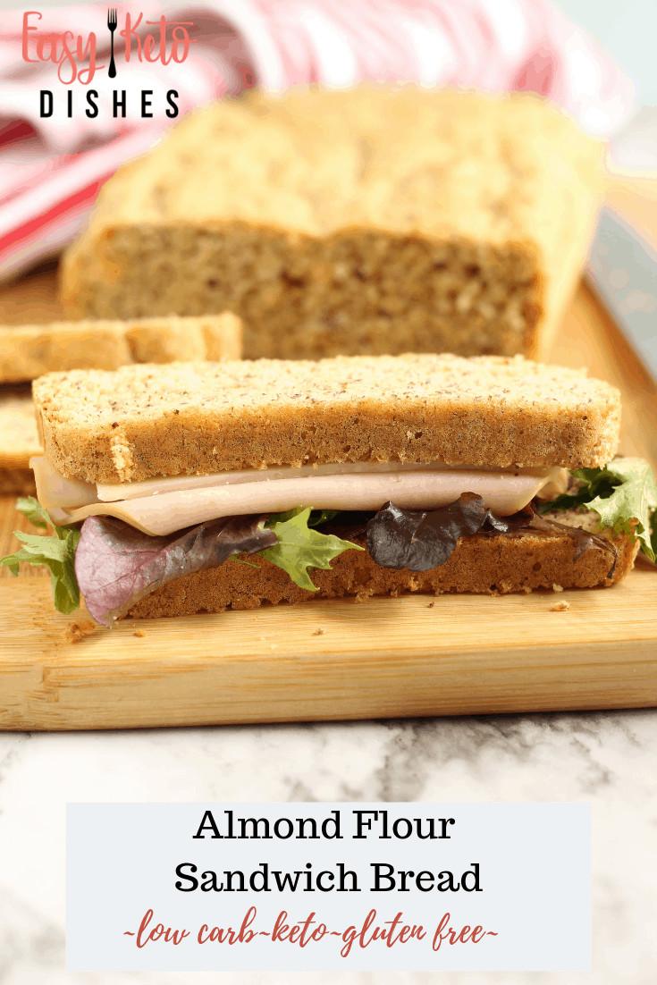 Easy Keto Sandwich Bread  Keto Sandwich Bread low carb Easy Keto Dishes