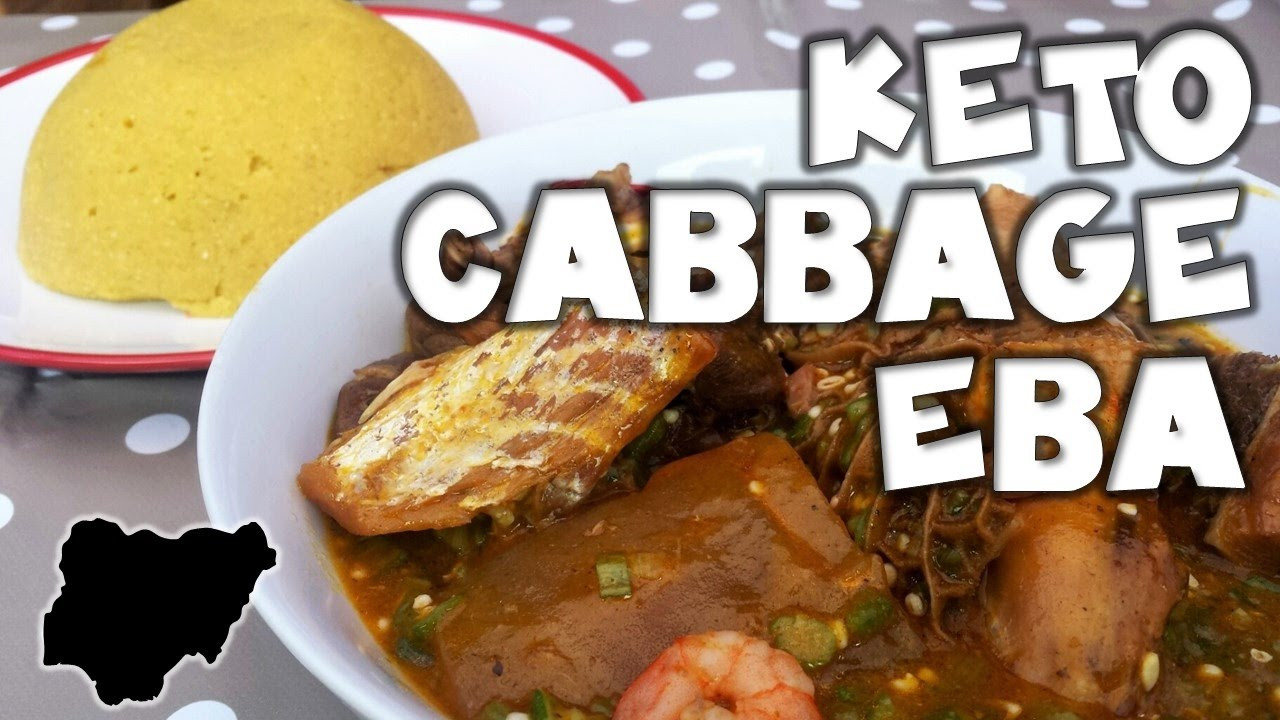 Ghanaian Keto Diet Plan  Ketogenic Nigerian Style │How to make Cabbage Eba Swallow