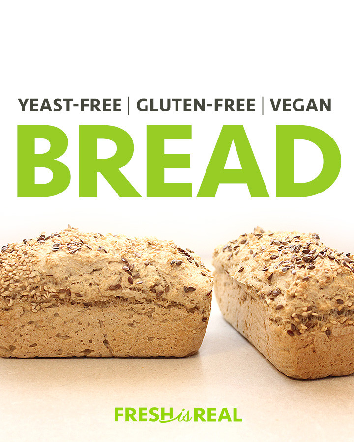 Gluten Free Bread No Yeast  Yeast Free Gluten Free Vegan Bread Recipe freshisreal