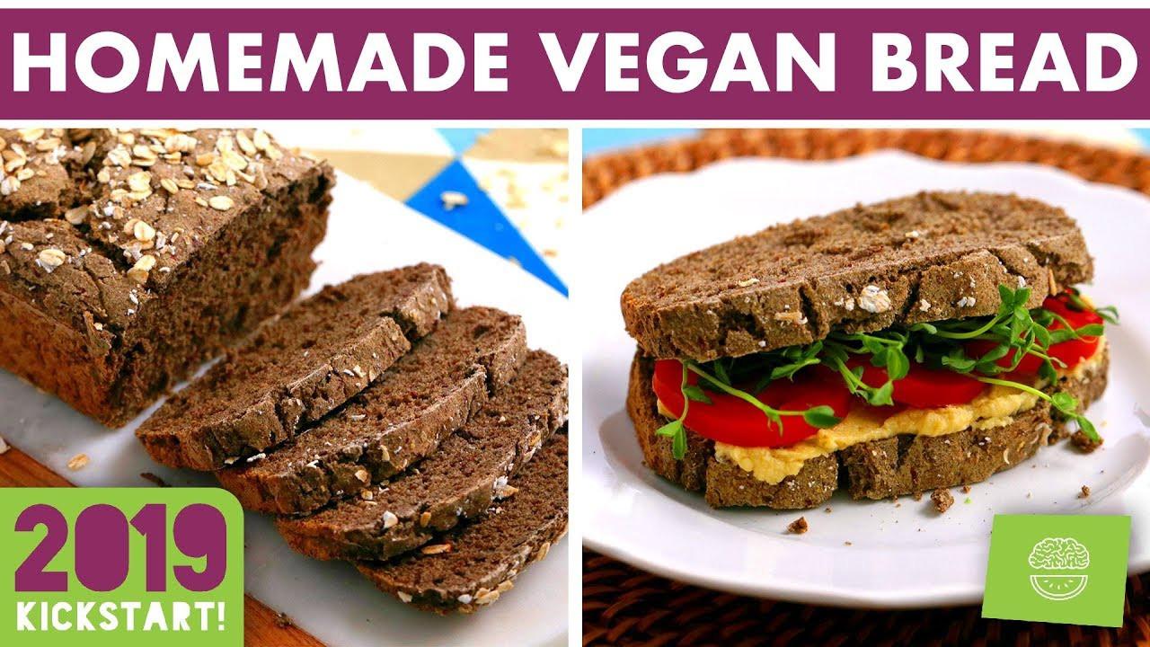 Gluten Free Bread No Yeast  Vegan Gluten Free Bread Recipe NO Yeast kickstart2019