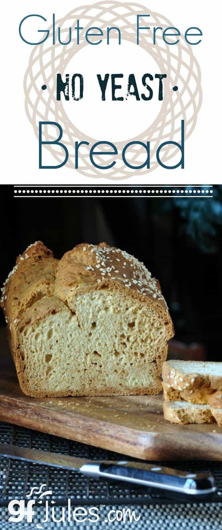 Gluten Free Bread No Yeast  Gluten Free No Yeast Bread Recipe for Sandwiches gfJules