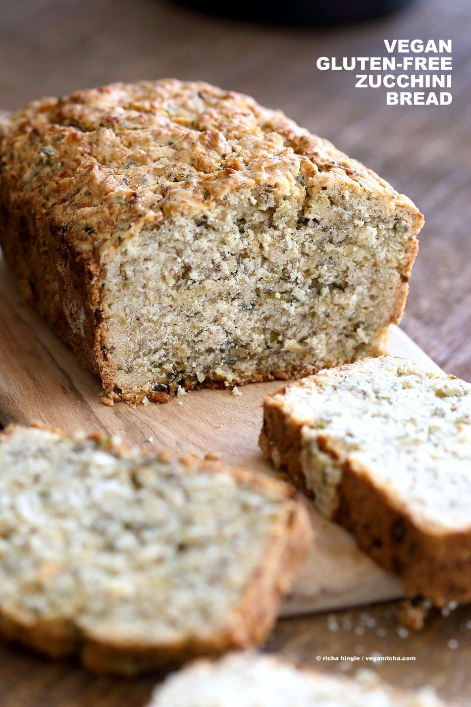 Gluten Free Bread Recipe  Vegan Gluten free Zucchini Bread Recipe Vegan Richa