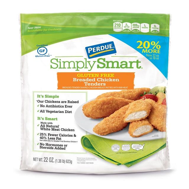 Gluten Free Breaded Chicken Tenders  PERDUE SIMPLY SMART Breaded Chicken Breast Tenders