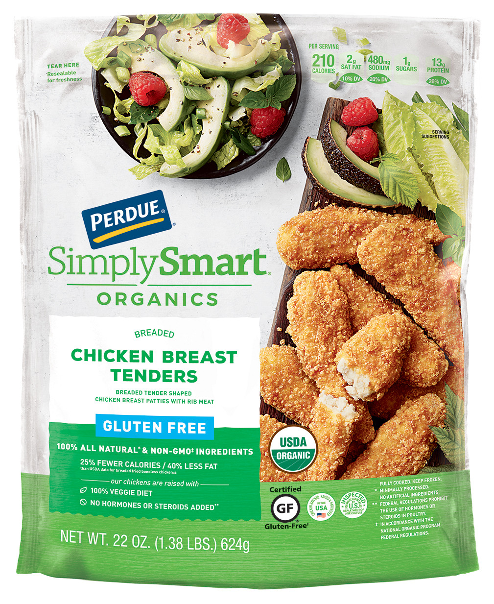 Gluten Free Breaded Chicken Tenders  Perdue Simply Smart Organics Gluten Free Breaded Chicken