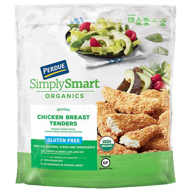Gluten Free Breaded Chicken Tenders  PERDUE SIMPLY SMART ORGANICS Breaded Chicken Breast