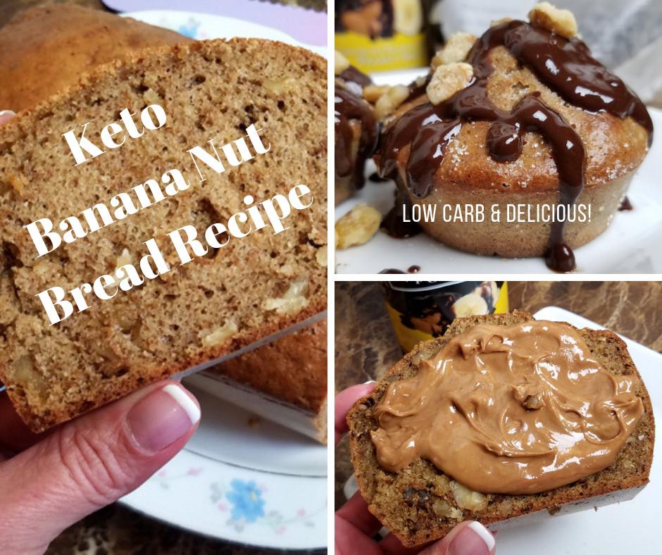 Gluten Free Keto Banana Bread  Best Low Carb Banana Nut Bread Recipe Keto Friendly