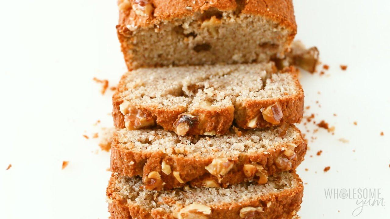 Gluten Free Keto Banana Bread  Keto Low Carb Banana Bread Recipe With Almond Flour