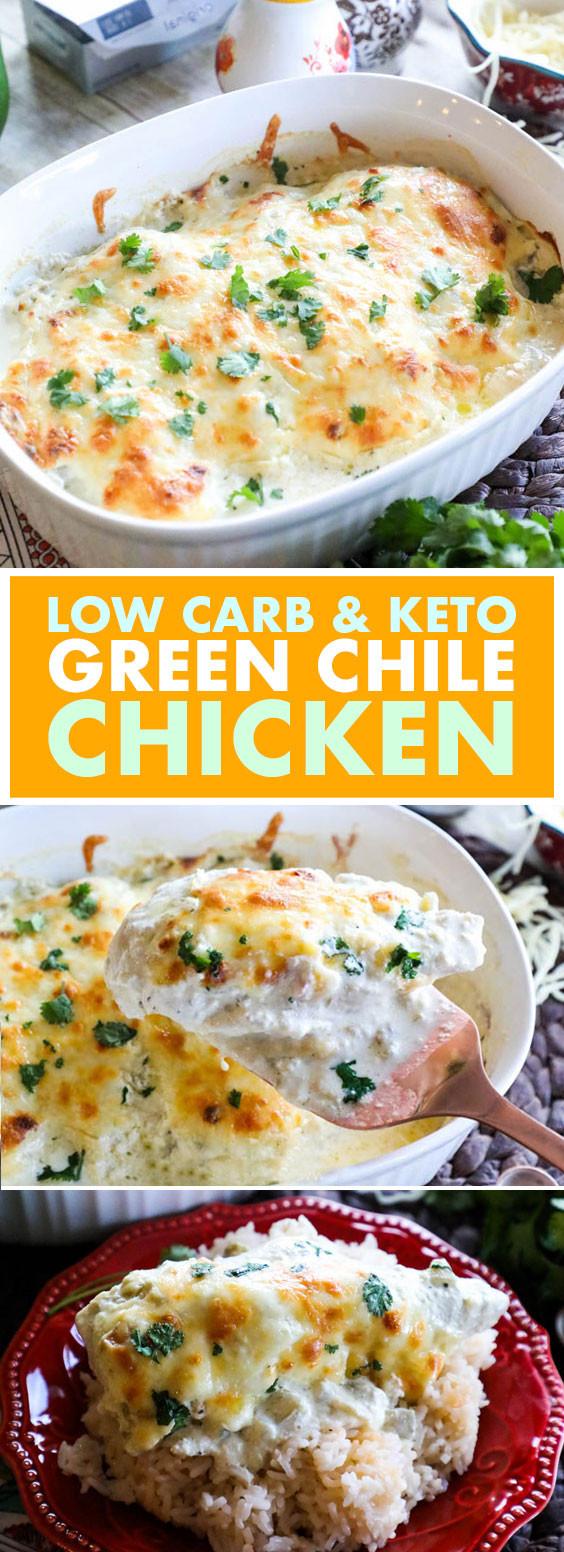 Green Chili Chicken Keto  Low Carb & Keto Green Chile Chicken mamarecipesub
