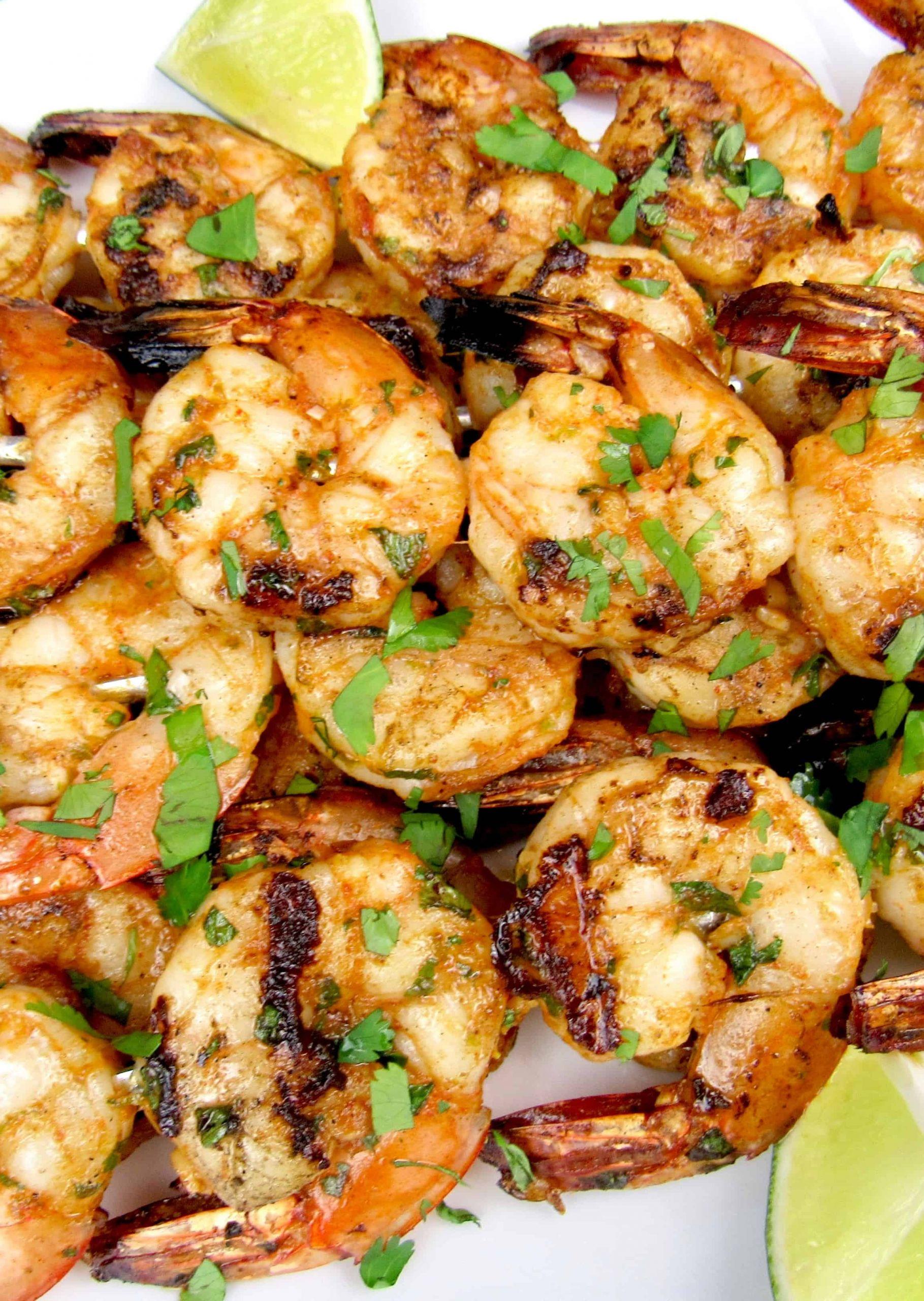 Grilled Shrimp Keto  Grilled Lime Cilantro Shrimp Skewers Keto and Low Carb