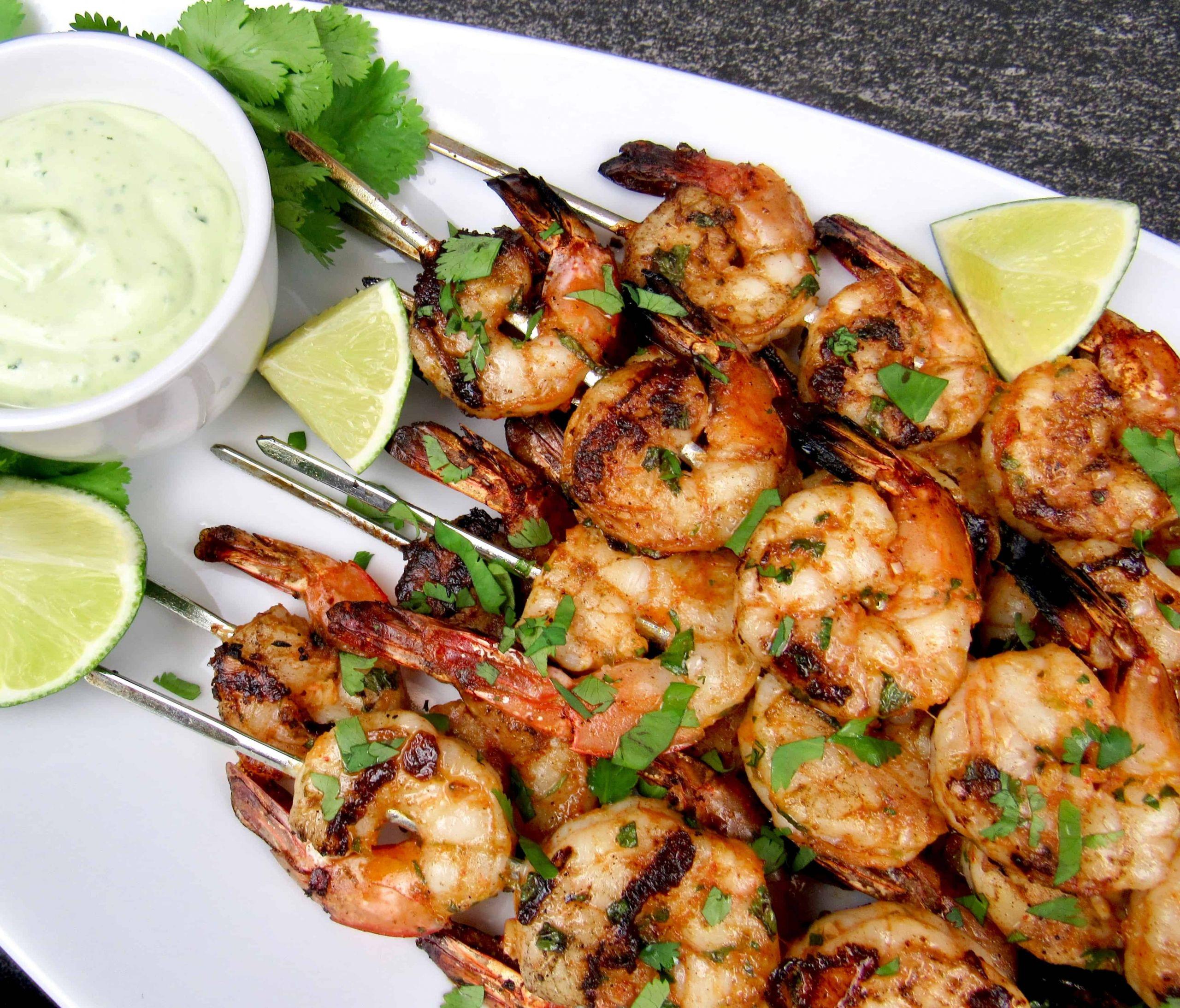Grilled Shrimp Keto  Grilled Lime Cilantro Shrimp Skewers Keto Low Carb