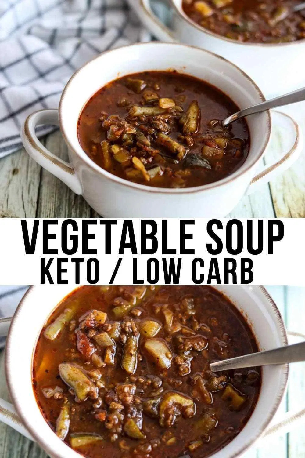 Ground Beef Keto Soup  Down Home Keto Ve able Soup with Ground Beef