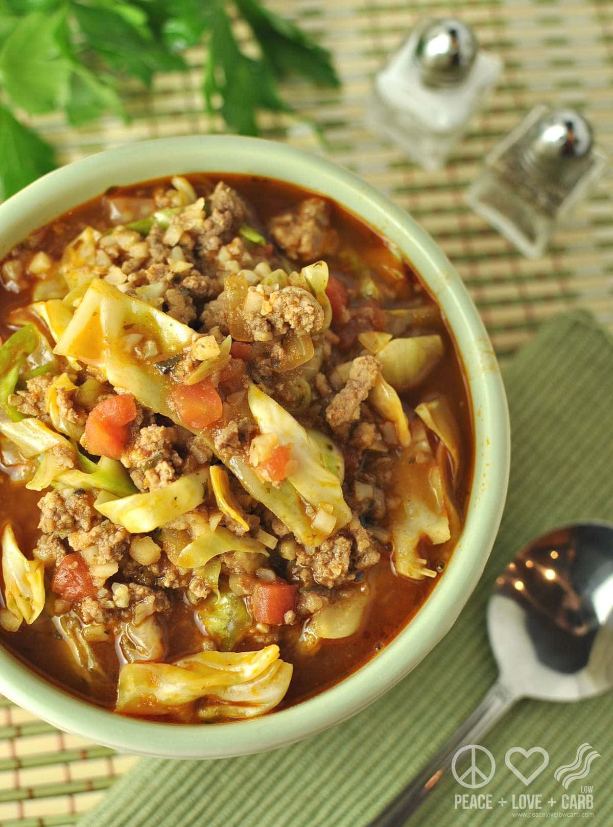 Ground Beef Keto Soup  Paleo Keto Cabbage Roll Soup