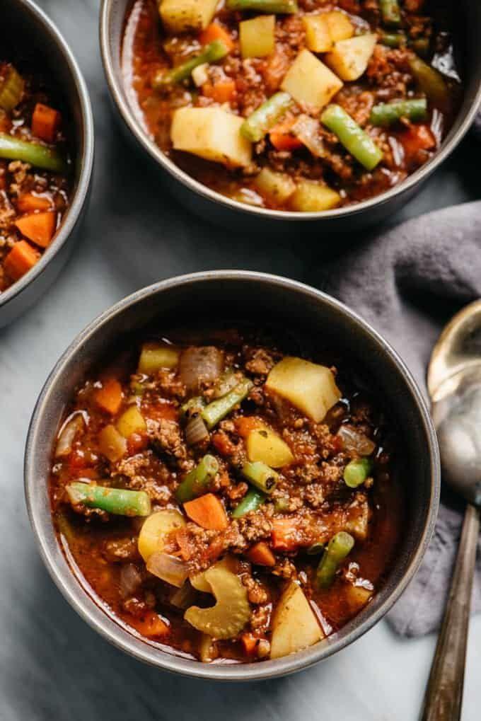 Ground Beef Keto Soup  Keto Ground Beef Recipes