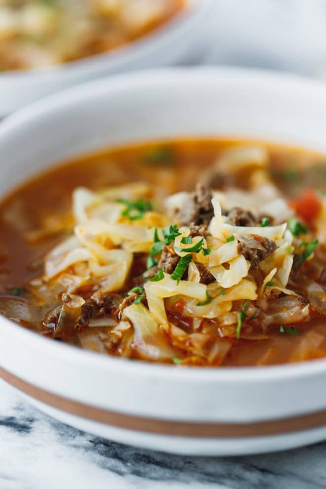 Ground Beef Keto Soup Recipes  Keto Cabbage Soup Recipe Cooking LSL