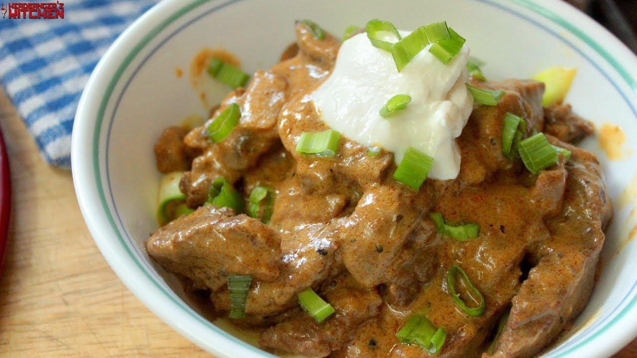 Hamburger Keto Recipes Beef  Keto Beef Stroganoff Keto Recipes