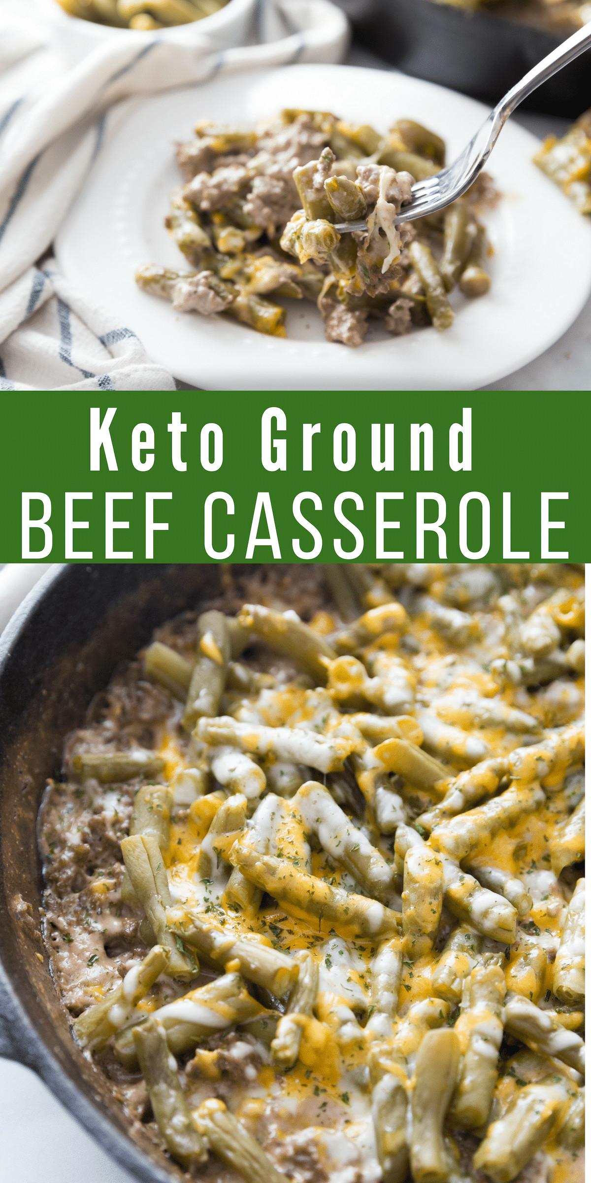 Hamburger Keto Recipes Beef  Keto Ground Beef Casserole Perfect fort Dish