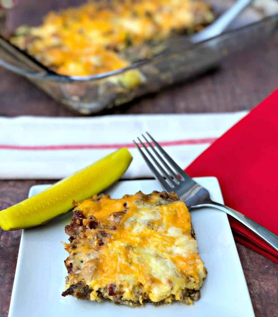 Hamburger Meat Recipes Low Carb Keto  Easy Keto Low Carb Bacon Cheeseburger Casserole with VIDEO